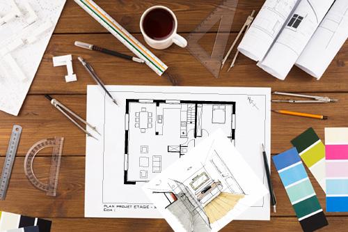 plan, design, 2d, 3d, décoration, design