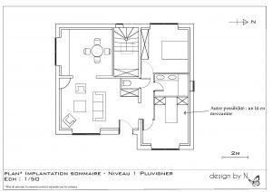 Maison Pluvigner Proposition d'implantation 1er étage