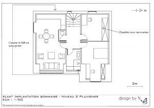 Maison Pluvigner Proposition d'implantation 2ème étage
