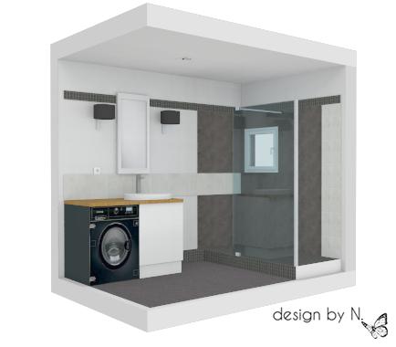 Proposition d'aménagement salle de bain Bordeaux - Perspective 1