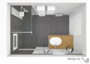 Proposition d'aménagement salle de bain Bordeaux - vue d'ensemble
