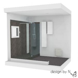 Proposition d'aménagement salle de bain Bordeaux - Perspective 2