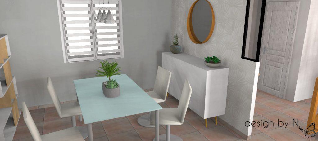 Projet d'aménagement vue salle à manger 1