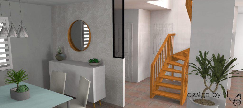 Projet d'aménagement vue salle à manger 2