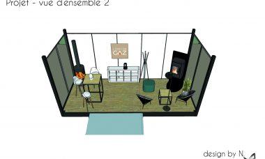 Vue 3D - showroom éphémère