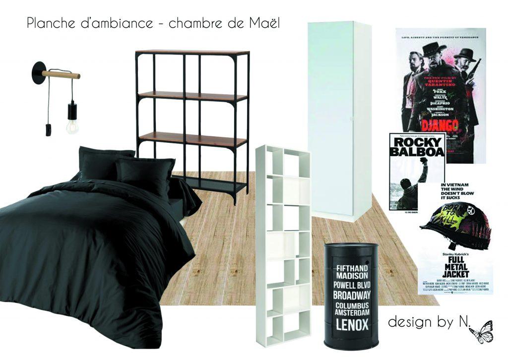 Planche de présentation des mobiliers et revêtements proposés