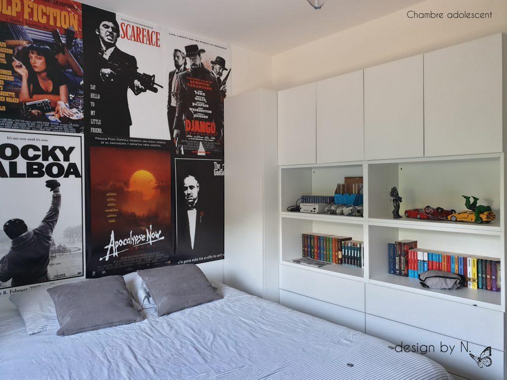 décoration aménagement chambre adolescent cinéma