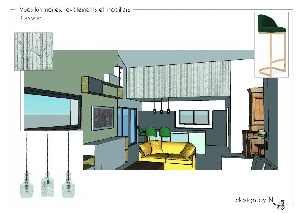 Planche Vues 3D revêtements et mobiliers_cuisine