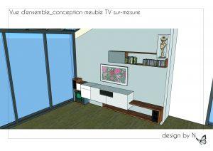 Vue d'ensemble_conception meuble Tv sur-mesure