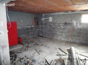 Photo avant / Création, agencement et décoration d'une chambre en sous-sol
