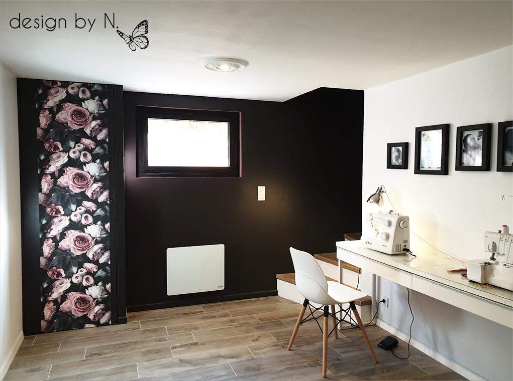Création, agencement et décoration d'un palier/atelier en sous-sol