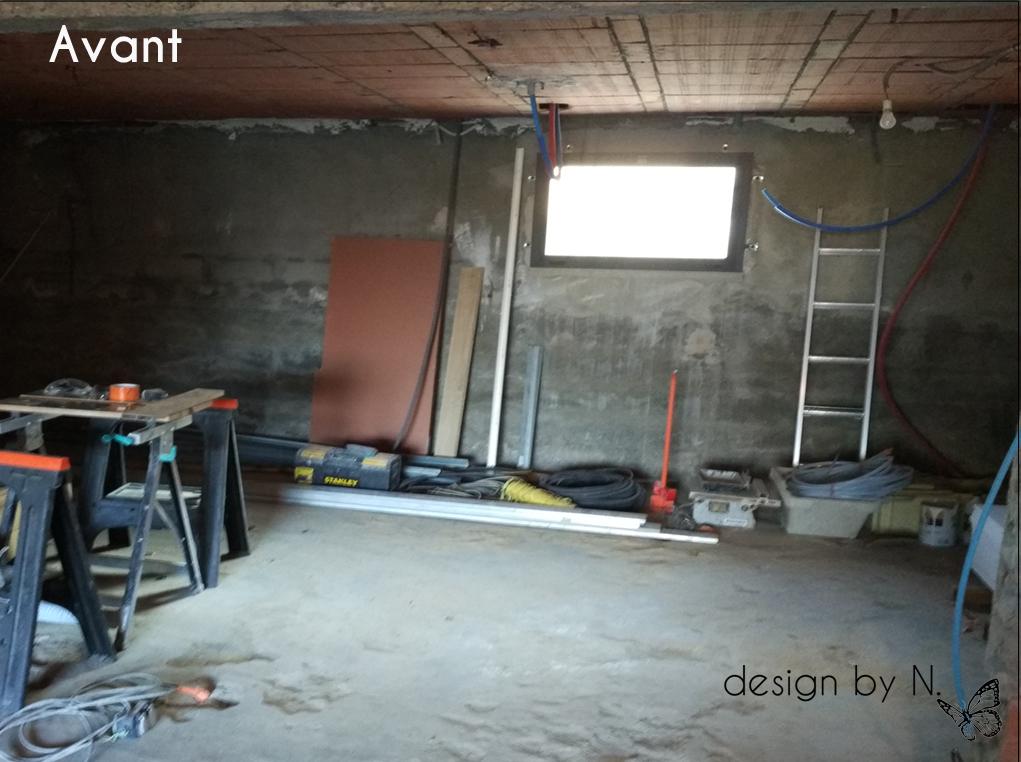 Photo avant / Création, agencement et décoration d'une salle de bain en sous-sol