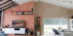 photo après _ vue d'ensemble décoration salon / cuisine