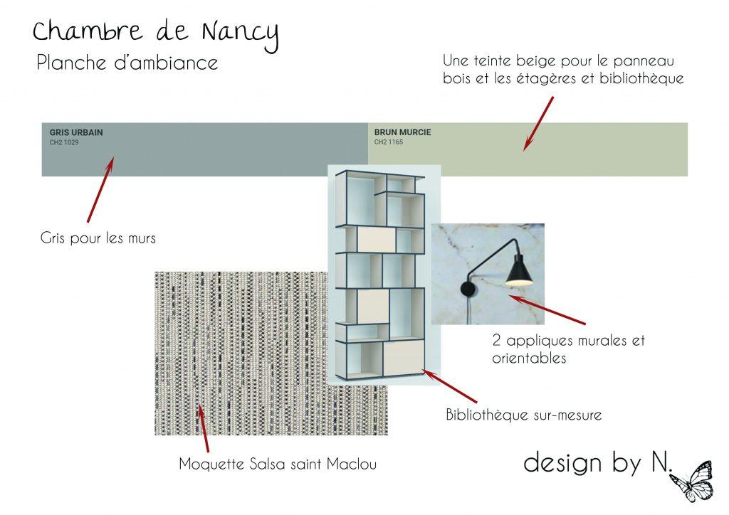 Planche de proposition de décoration - chambre