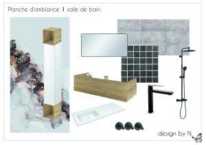 Planche de proposition de décoration - salle d'eau