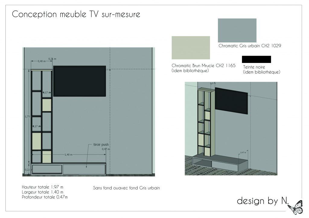 Proposition de meuble TV - chambre de Nancy