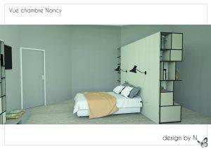 Dessin 3D projet Chambre Alix