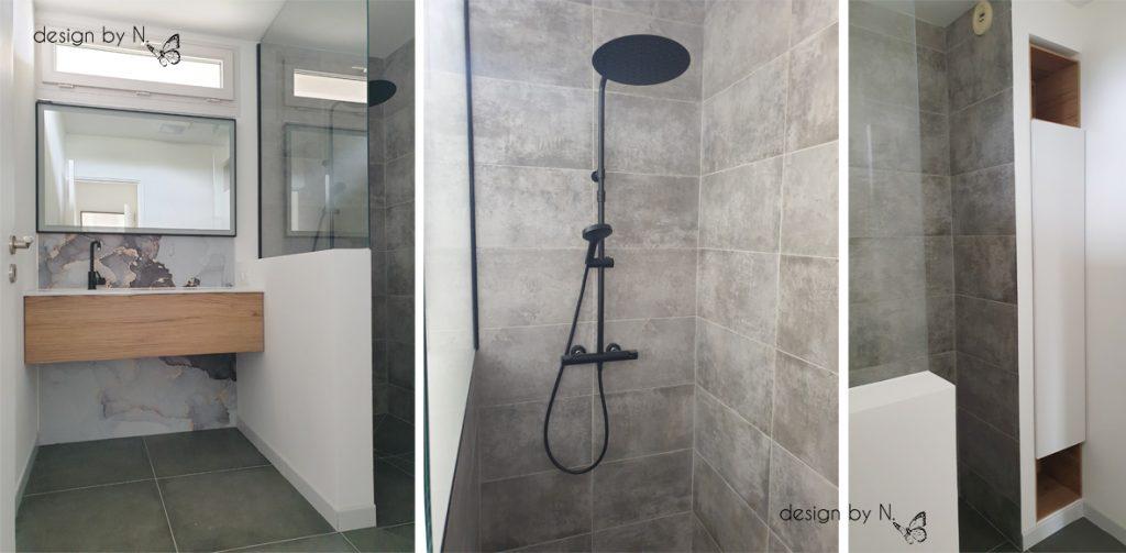 photo après projet de décoration - salle d'eau rénovée