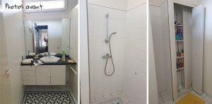 photo avant projet de décoration - salle d'eau à rénover