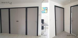 photo après projet de décoration - portes relookée