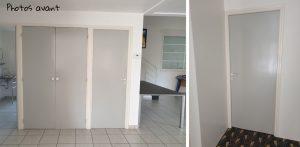 photo avant projet de décoration - portes à repeindre
